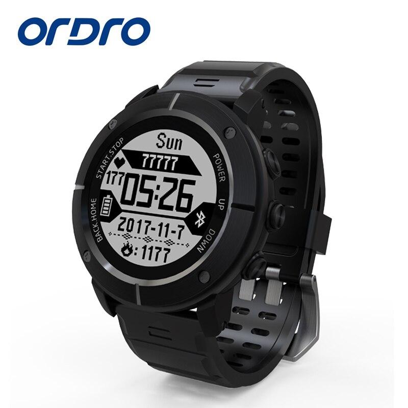 ORDRO 2018 NEW UW80C Outdoor Sports smart watch IP68 waterproof Support GPS Thermometer Compass Heart Rate Monitor SOS For Help smart baby watch q60s детские часы с gps голубые