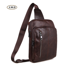 J.M.D New Arrivals Genuine Leather High Quality Men's Fashion Unique Design Chest Bag Popular Male Shoulder Bag 7215C-1 цена 2017