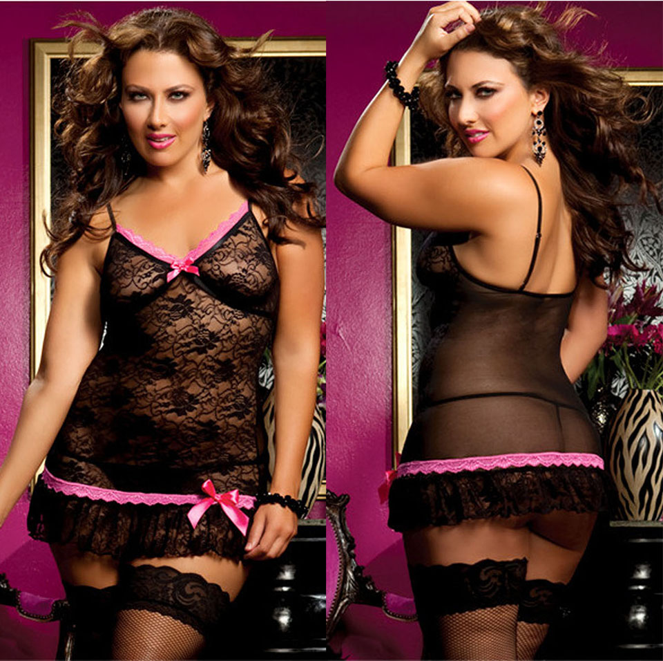 Hot Sexy Lingerie Large Sizes Women s Fashion Transparent Bed Appeal Underwear Erotic Lingerie Women Pajama