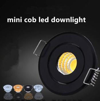Free shipping 2018 CE ROSH High Quality 3W Round Dimmable MINI LED COB Cabinet Downlights Cut out 42mm AC230V