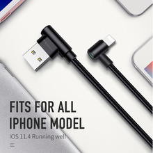 90 degree usb Cable for iphone Mcdodo fast charge Data Sync LED for iPhone X 8 7 6 5 6s Plus iPhone cable Charger Adapter cord