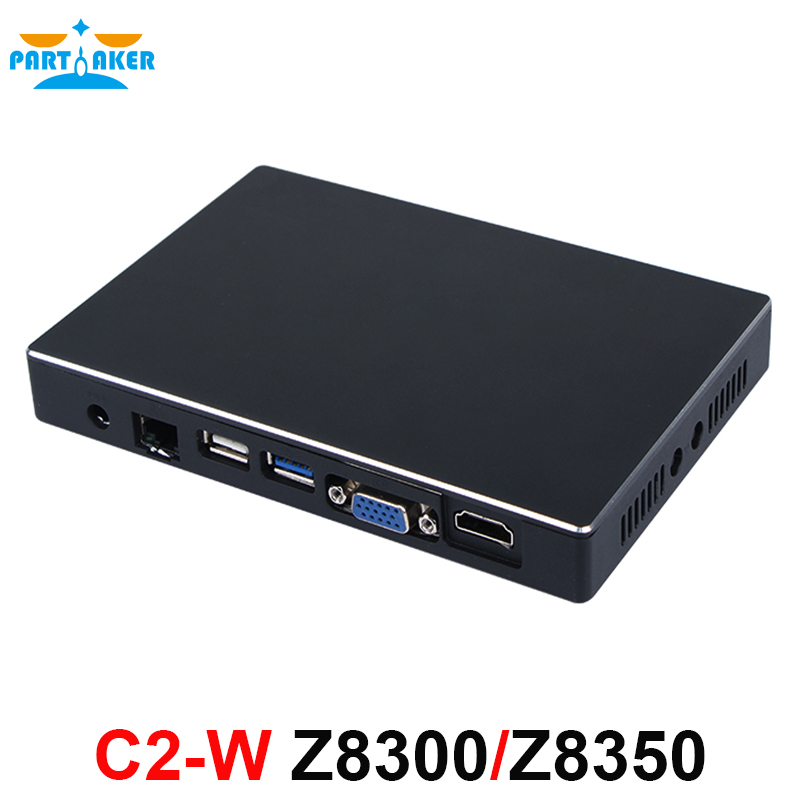 Partaker C2-W Mini PC Windows 10 Ubuntu OS Intel Z8300 Z8350 CPU Intel HD Graphics 2GB RAM 32G SSD WiFi BT4.0