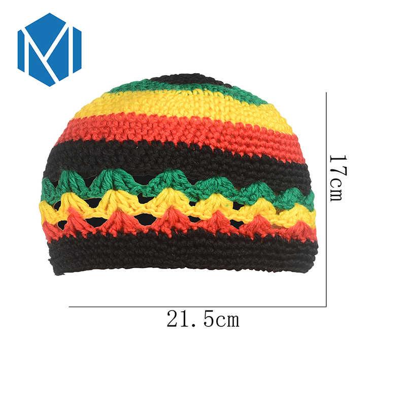 Miya Mona Neue Herbst Herbst Winter Hand-Gestrickte Hut für Erwachsene Mützen Niedlich Schöne Warme Kappe für Männer Junge bunte Jamaika