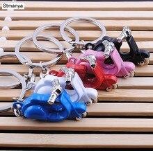 Neue Design Kühlen Mini metall Keychain Auto Schlüssel Kette Schlüssel Ring Motorrad kette Mix farbe anhänger Für Mann Frauen Geschenk großhandel 17217