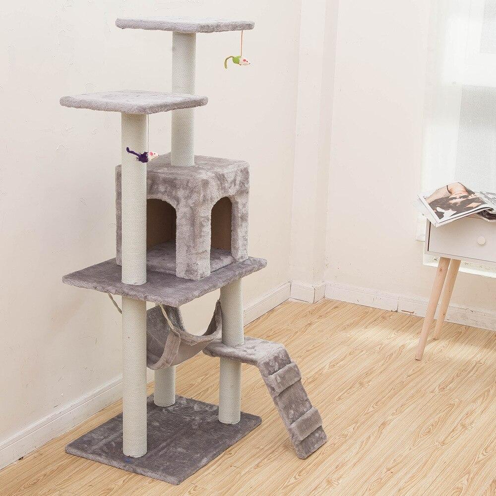 Fournitures pour animaux chat jouet escalade cadre chat tableau à gratter arbre nid hamac 23 S chat Tunnel tour velours bonne qualité cage