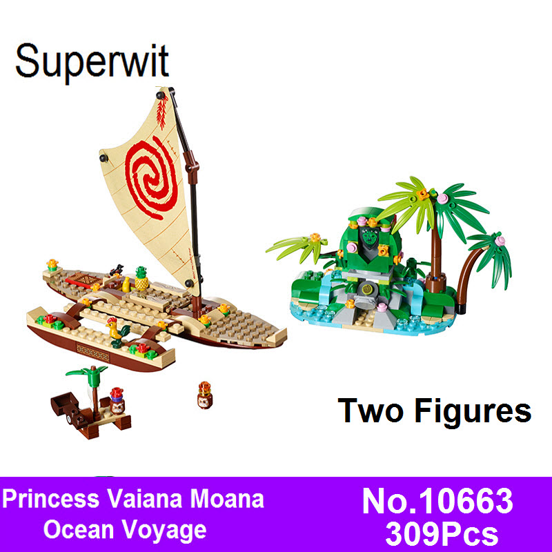 2017 Bela 10663 309pcs Girls Friends Princess Vaiana Moana Ocean Voyage Building Blocks Bricks Kids Toys