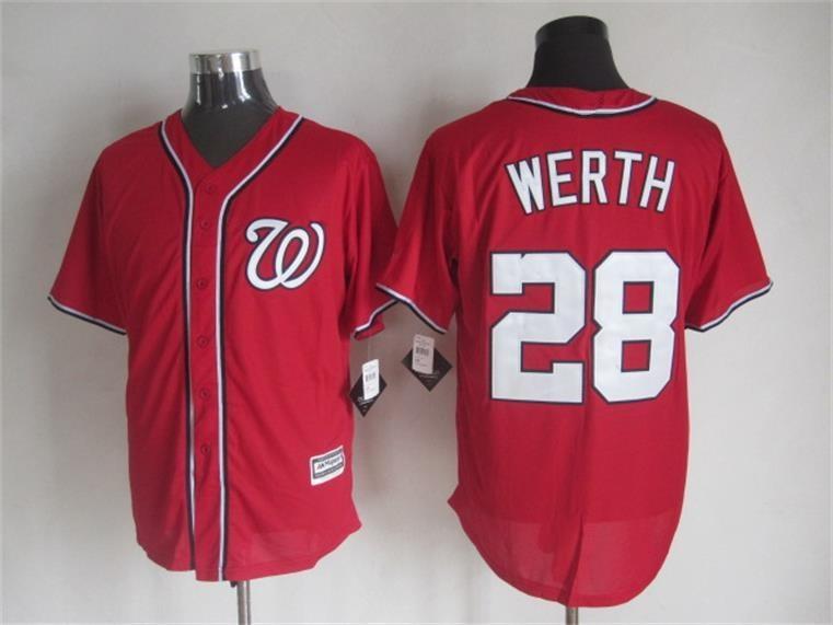 2015 Cheap Washington baseball jerseys 28 Jayson Werth Blue white stitched jersey - Sale, Top Shop store