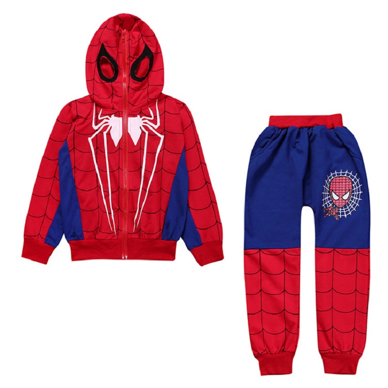 2018 Spiderman Baby Boys Clothing Sets Cotton Sport Suit For Boys Clothes Spring Spider Man Cosplay Costumes KIds Clothes Set BT поводки triol поводок рулетка
