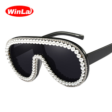 Winla Fashion Design Women Sunglasses Crystal Printed Unique Frame Sun Glasses Gafas Rhinestone Shades Oculos de sol WL1139
