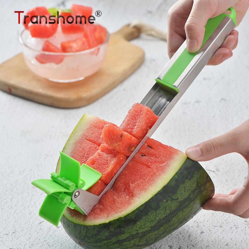 Transhome нож для нарезки дыни из нержавеющей стали ветряная мельница с арбузным артефактом резак для фруктов кухонный инструмент для фруктов ...