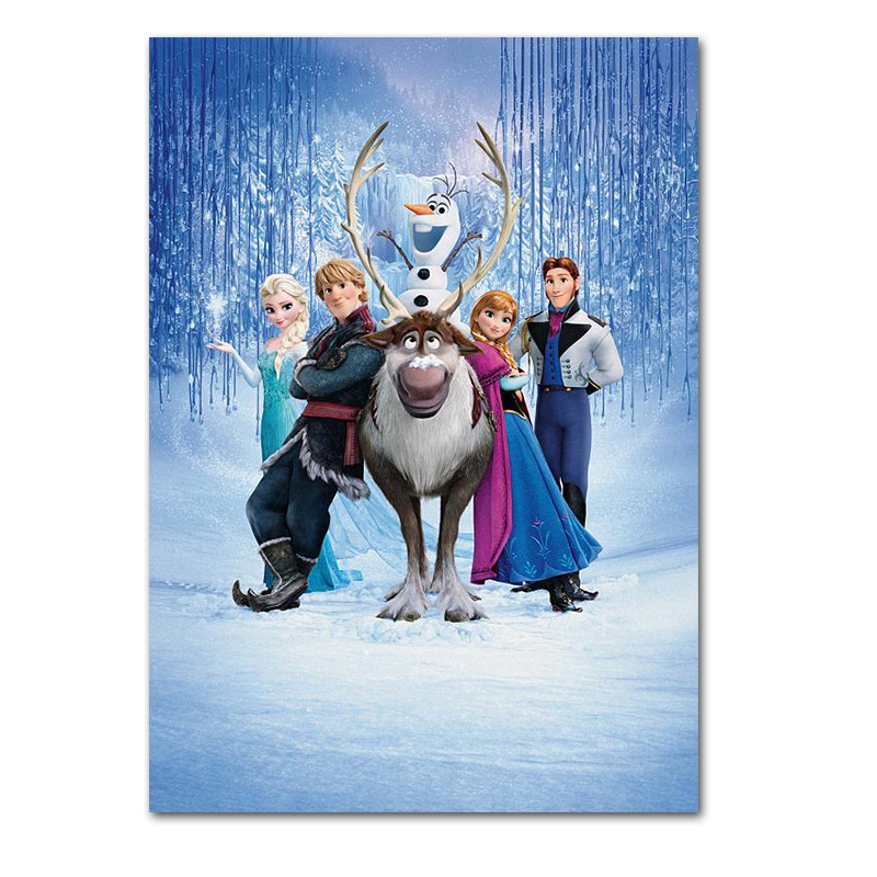 Children room decoration picture Animation Frozen movie poster wall art Canvas Printings decor home Unframed
