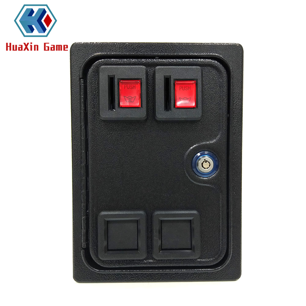 Arcade Double Coin Door With Quarter Acceptor For MAME or Arcade Replacement Iron Door ConstructionArcade Double Coin Door With Quarter Acceptor For MAME or Arcade Replacement Iron Door Construction