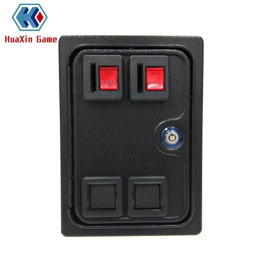 Arcade Double Coin Door With Quarter Acceptor For MAME Or Arcade Replacement Iron Door Construction