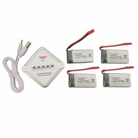 4PCS 3.7V 850mah lithium battery with 1 charge 4 charger for SYMA X56 X56W X54HW X54HC quadcopter spare parts drone battery