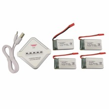 4PCS 3 7V 850mah lithium font b battery b font with 1 charge 4 charger for