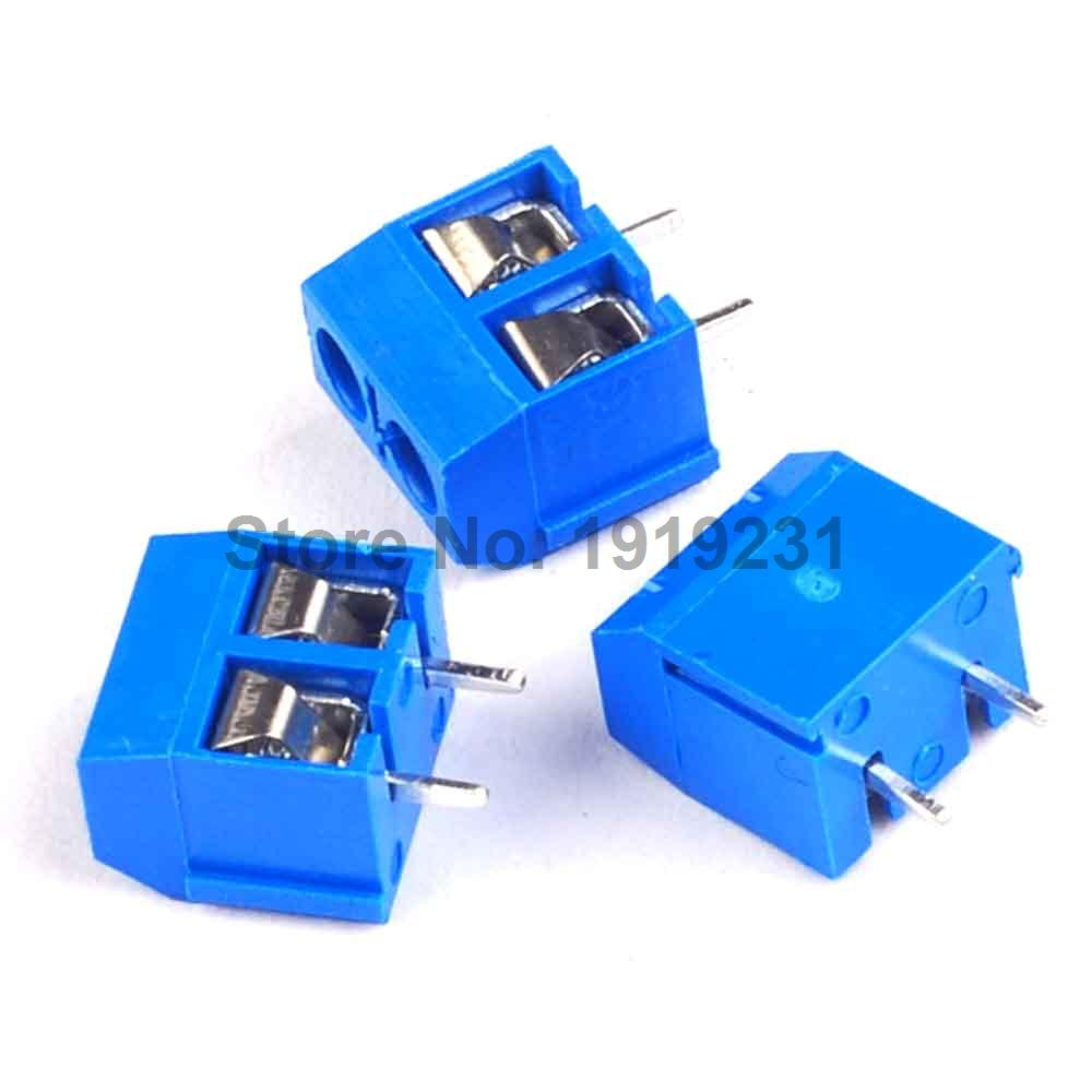 100PCS KF301-2P 2 Pin Screw Terminal Block Connector 5.08mm Pitch 5 pcs 400v 20a 7 position screw barrier terminal block bar connector replacement