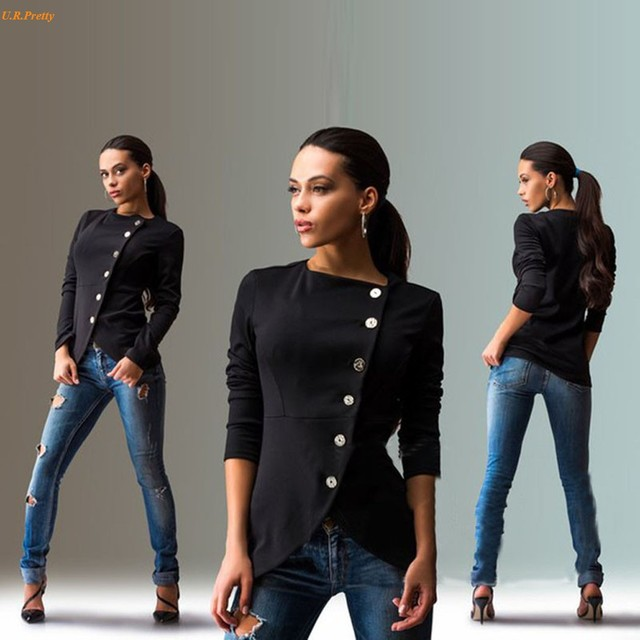 Jaquetas básicas 2016 Mulheres Da Moda Casaco de Manga Longa Jaqueta Casual Mulheres de Slim Casacos Feminino chaquetas mujer Top Qualidade 41