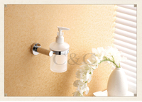 Noble And Elegant Solid Brass And Glass Chrome Plating Bathroom Liquid Soap Dispensers 1911