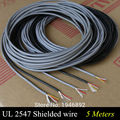 5M UL 2547 28/26/24 AWG Multi-core control cable copper wire shielded audio cable headphone cable signal line