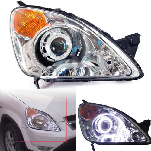 Headlights For Honda CR-V 2002-2004 With Angel Eyes Halo And Bi-xenon Projector цены онлайн