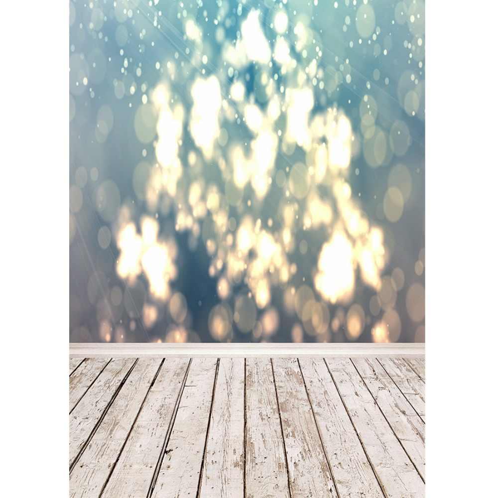 Bokeh Gitter bois clair plancher Portrait Photocall photographie arrière-plans enfants arrière-plans photographiques accessoires pour Studio de Photo