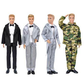Ken the Boyfriend Wearing Suit for Barbie  BJD Doll, Clothes Accessories Play House Dressing Up Costume  Christmas Gift ken the boyfriend swimming pants outfits for barbie bjd doll clothes accessories play house dressing up kids toys