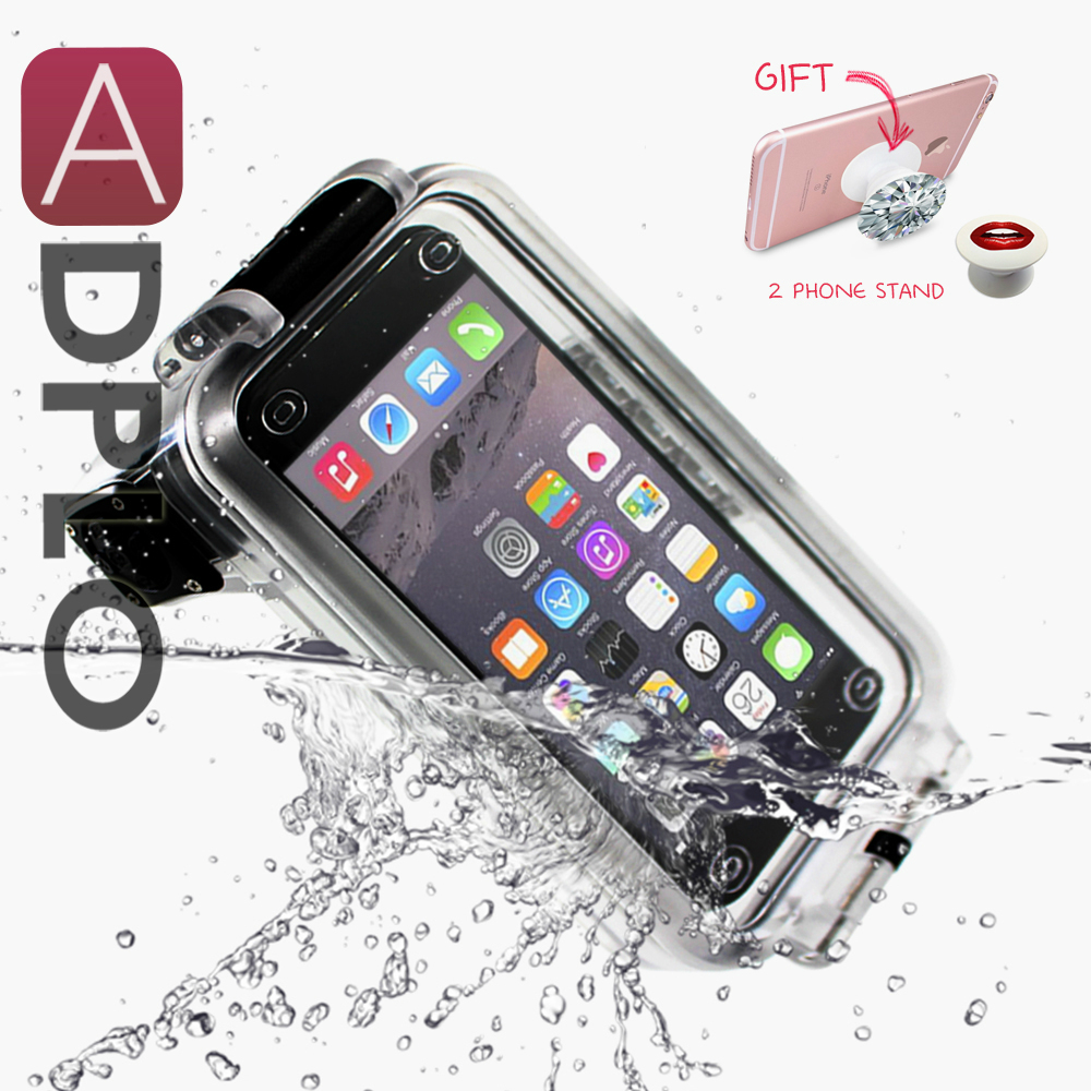 Pixco Waterproof Case For iphone 6S 6, 6S Plus, 7, 7plus,Swimming Diving Cover, 30M Depth Bluetooth Remote Control Cover  v2 waterproof cover bag with strap for iphone 6 plus 6s plus size 17 x 9cm blue