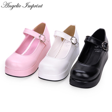 College Style All-match Lolita Cosplay Mary Jane Shoes Thick Platform Comfortable Wedge Shoes все цены