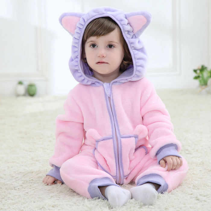 Animal Character Pink Baby Romper Cartoon Figure Newborn Suit 2017 Infant Toddler Overall Baby Clothes for 6 Month RL2-W