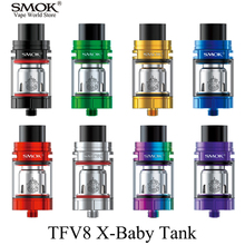SMOK TFV8 X-BABY Electronic Cigarette Vape Sub Ohm Tank VS Melo 3 TFV12 Leak Proof Design Atomizer for Alien Mod Stick V8 S145