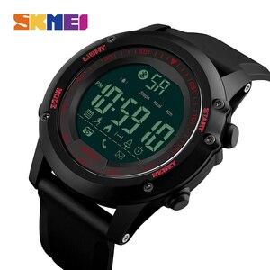 Image 2 - SKMEI Bluetooth גברים חכם ספורט שעון 5Bar עמיד למים גברים דיגיטלי שעוני יד מד צעדים קלוריות כושר reloj hombre 1321