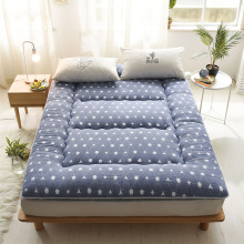 Washed cotton printed quilted Mattress Toppers