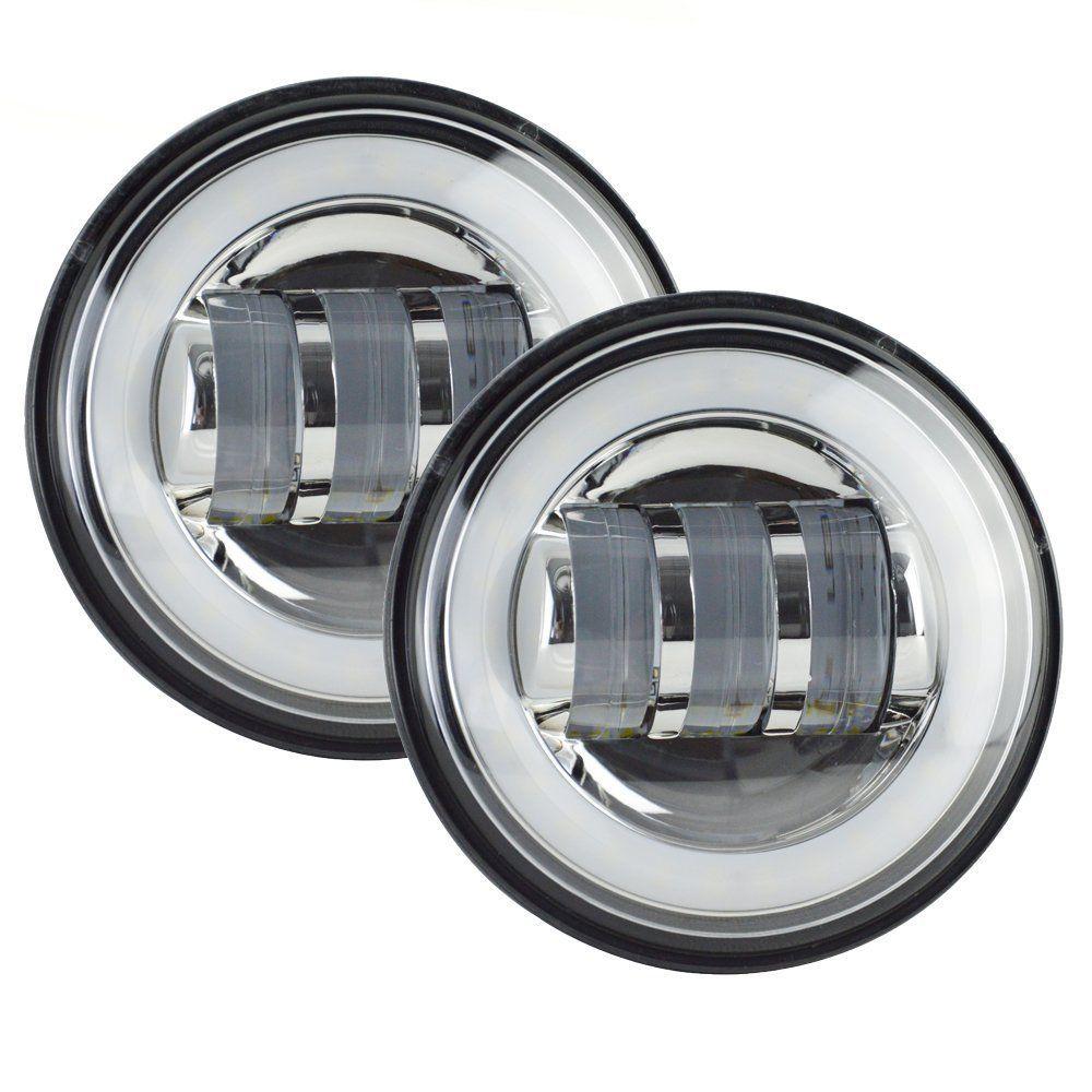 7 pollici A LED Del Faro bianco DRL, 4.5 pollici Halo Nebbia Luci, anello adattatore per Harley Touring Electra Glide Road King Street Glide - 3