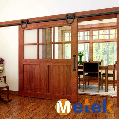 Compare prices on sliding barn doors interior online for Double hung sliding barn doors