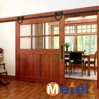 4.9FT/6FT/6.6FT sliding barn doors hardware interior iron entry door