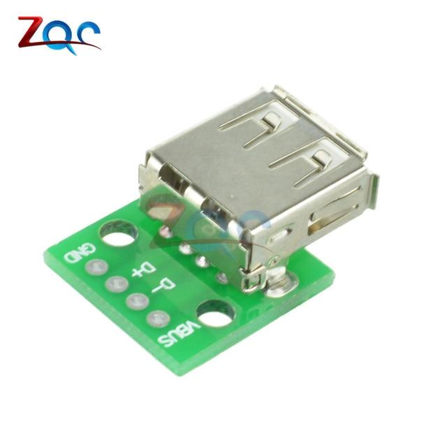 10 pcs Type A Female USB Para DIP 2.54 MM Placa PCB conector Conversor Adaptador Para Arduino