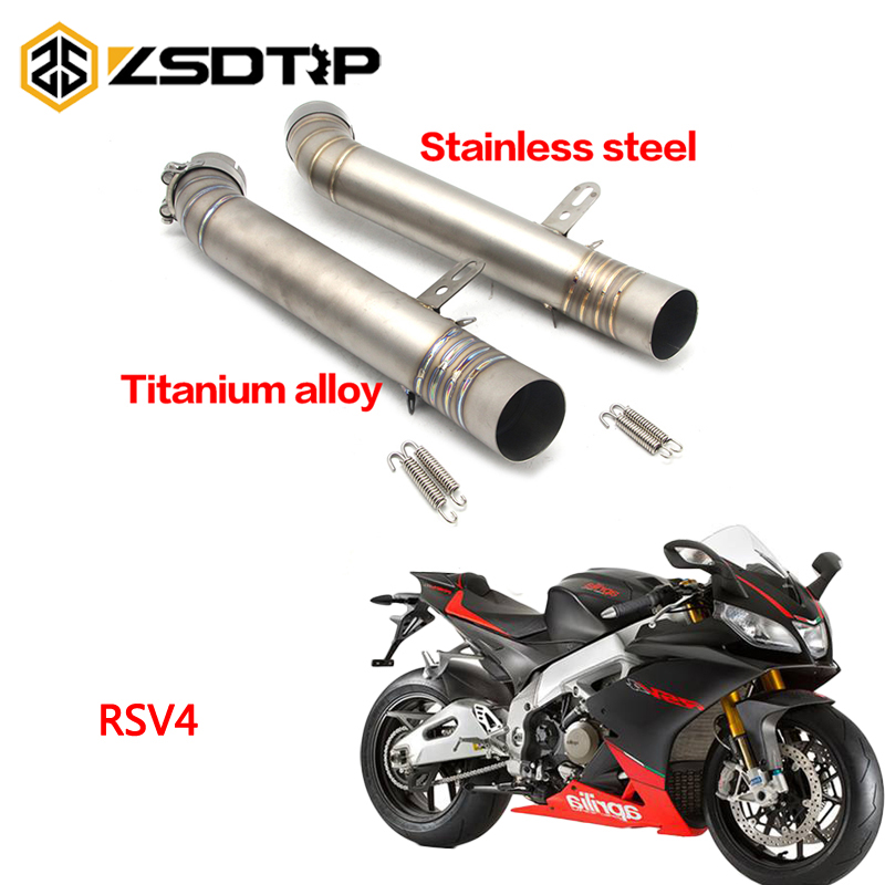 ZSDTRP Motorcycle Part Street Aprilia RSV4 60mm Inlet Diameter Full System Pipe Connect Link Pipe Middle Pipe LinkZSDTRP Motorcycle Part Street Aprilia RSV4 60mm Inlet Diameter Full System Pipe Connect Link Pipe Middle Pipe Link
