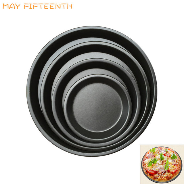 MAY FIFTEENTH Carbon Steel Shallow Baking Pan for Pancakes Non-stick Pizza Pie Pan Frying  sc 1 st  AliExpress.com : 12 inch pie plate - pezcame.com
