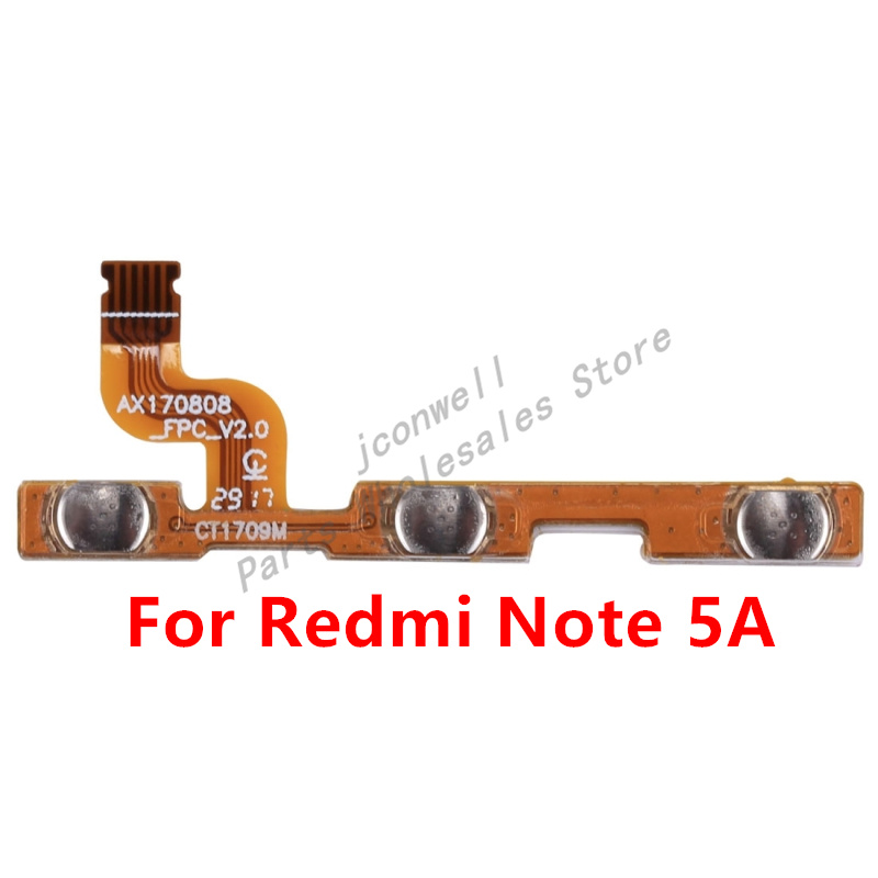 For Xiaomi Redmi Note 5A Y1 Lite Power On Off Button Flex Cable Mute Volume Switch Flex Note 5A Replacement Part