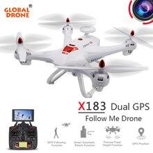 Global Drone X183 RC Quadcopter Drone GPS Follow M Professional FPV Remote Control Dron GPS Drone With Camera HD VS X8PRO X8