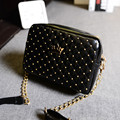 YBYT brand 2017 new rivet crown sequined handbag candy color ladies purse wedding clutch women crossbody shoulder messenger bags