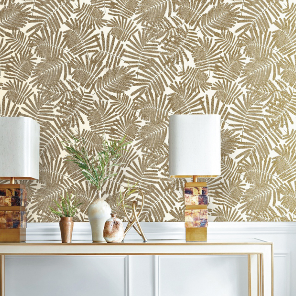 Metallic Gold Wallpaper Us 27 45 39 Off Modern Metallic Gold White Leaf Paper Wallpaper For Wall Roll American Wall Paper Bedroom Living Room Background Home Decor In