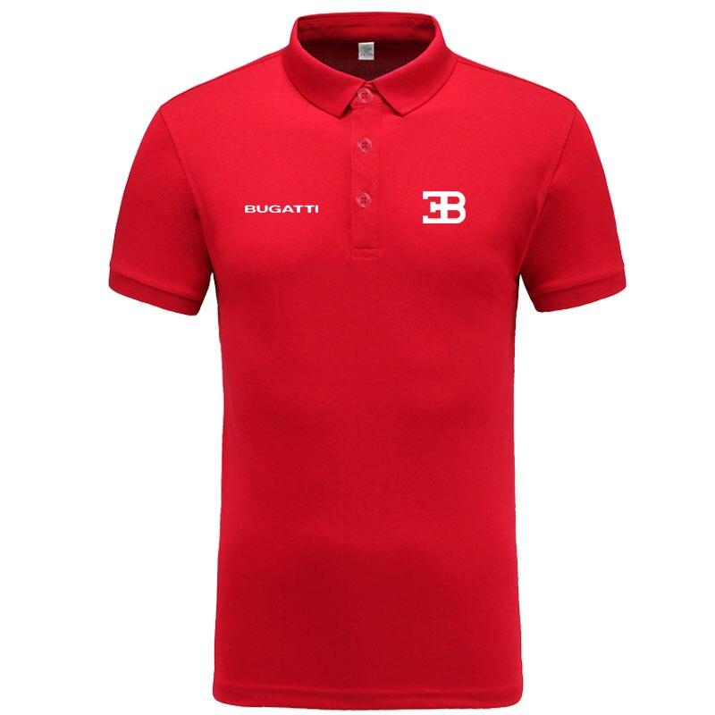 New classic Bugatti logo   Polo   shirt men brand-clothing casual solid summer   Polos   cotton