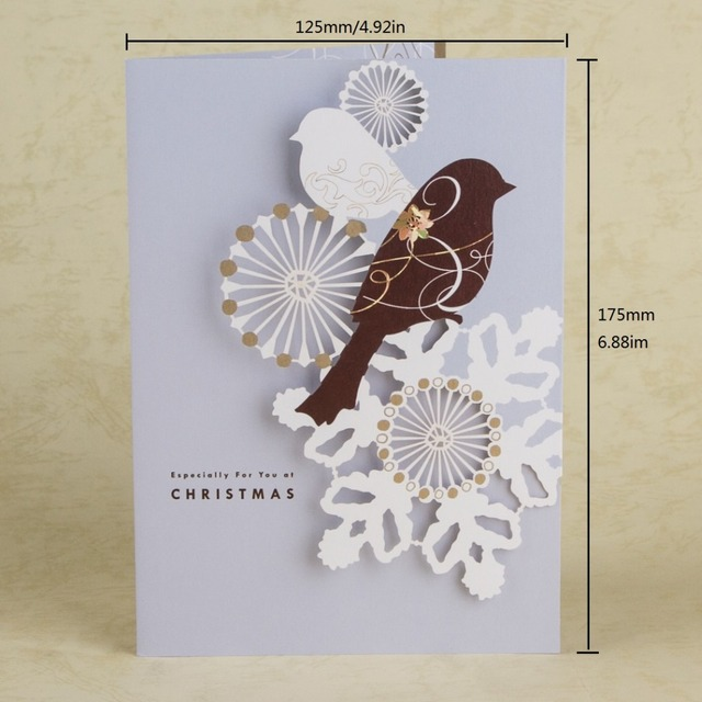 New arrivals greeting cards laser cut birds snowflake merry new arrivals greeting cards laser cut birds snowflake merry christmas card new year thank you message m4hsunfo