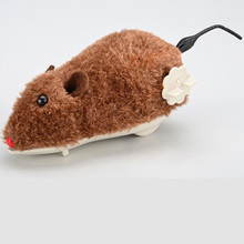 Toy Simulation Running Spring-Toy Wind-Up Children Cute Rat Cartoon Animal Plush Mouse