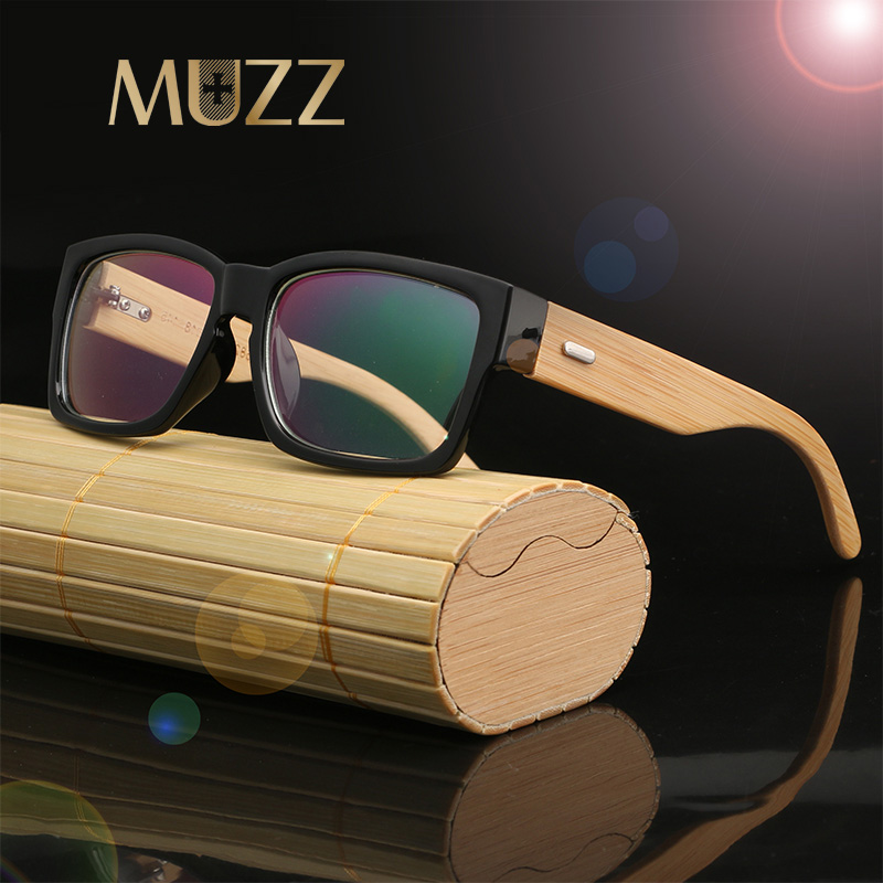 ⑧Muzz 2018 marca de lente transparente vintage hombres madera gafas ...