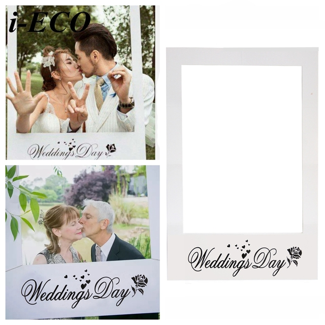 1pc Wedding Day Photo Frame Diy Props Creative Booth Favors Anniversary