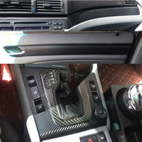 3D Carbon Fiber Car Interior Central Control Panel Outlet Sticker Auto Decals Vinyl Film Automobiles For BMW E46 Car Accessories
