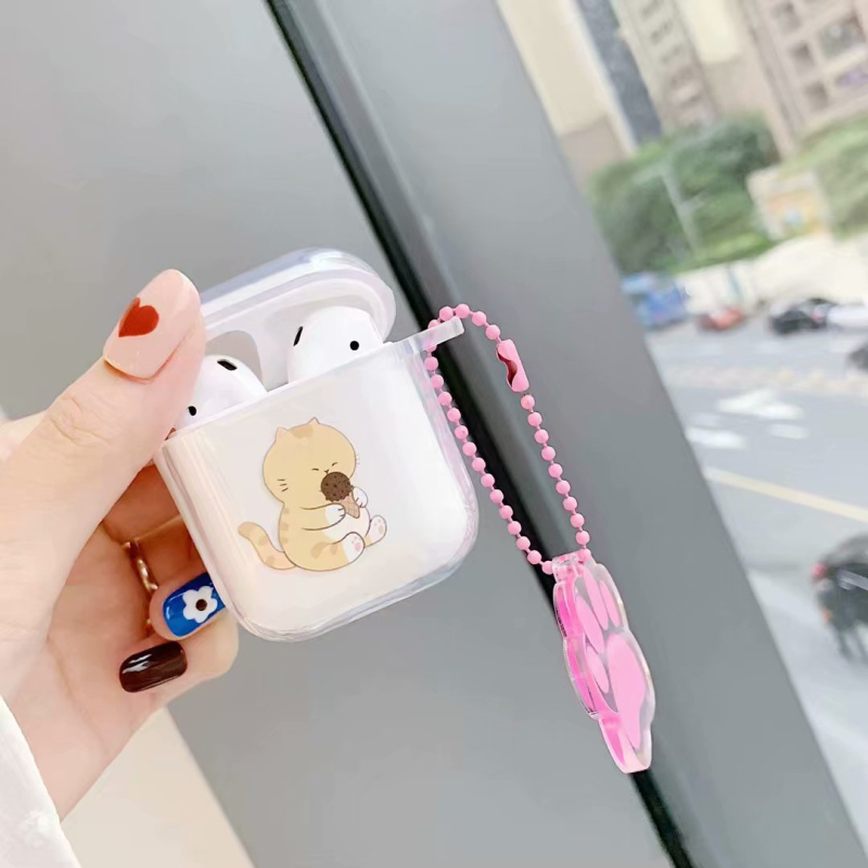 For Airpods Case Cute Lovely Cat Claw Cartoon Silicone Protective Cover Bluetooth Wireless Earphone Case For Air pods Casse in Earphone Accessories from Consumer Electronics