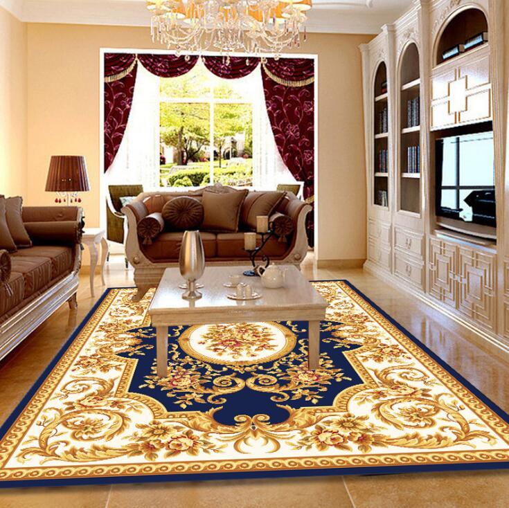 120*180cm grand tapis pour salon enfants ramper tapis européen Jacquard corail polaire tapis maison tapis porte tapis couverture - 4